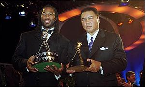 Lennox Lewis and Muhammad Ali at Sports Personality of the Year in 1999