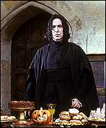 Alan Rickman plays Professor Snape
