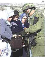 A checkpoint on the West Bank