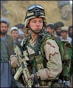 US Special Forces soldier in Afghanistan