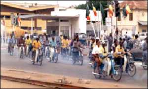 Mopeds in Cotonou