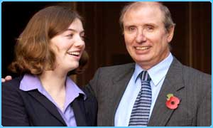 Mr Williamson with his daughter