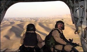 US Special Forces soldiers over Afghanistan
