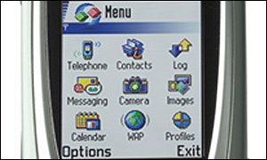 The screen of Nokia's 7650 mobile phone, Nokia