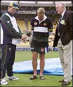 Steve Waugh, Shane Warne and Mike Denness