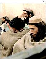 Taleban prisoners in Kabul