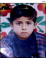 Palestinian boy Akram Naim al-Astal, one of the five schoolboys killed