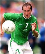 Ireland's Jason McAteer during the game against Holland