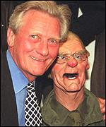 Michael Heseltine meets his puppet at last year's auction