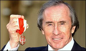Jackie Stewart receives his knighthood at Buckingham Palace