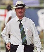 South African umpire Rudi Koertzen