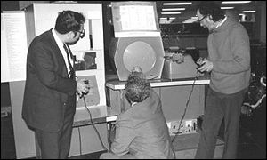 Computer gaming pioneers photographed in 1962