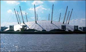 The Millennium Dome in Greenwich, London