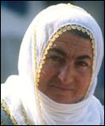 Turkish woman in traditional dress