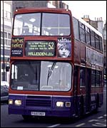 Bus 52 in Notting Hill Gate
