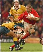 Colin Charvis goes on the attack for Wales