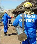Spraying South African village with DDT, BBC