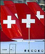 Fleet of Swissair planes