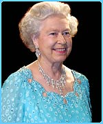 The Queen arrives at the Royal Variety Show