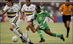 Tijani Babangida in action against South Africa