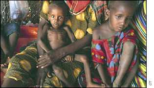 Somali children suffering from famine