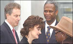 Tony and Cherie Blair meet Richard and Gloria Taylor