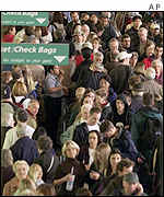 Crowded US airport