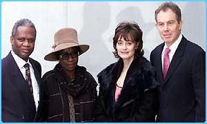 Damilola's parents with the Prime Minister and his wife