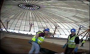 Current state of the interior at the Millennium Dome