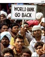 An anti-World Bank protest in India