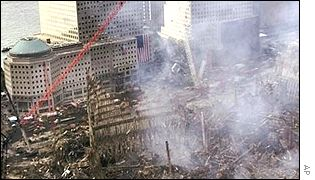 The remains of the World Trade Center