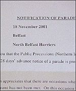 North Belfast had to get permission from the Northern Ireland Parades Commission to hold a race