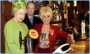 The Queen visits EastEnders