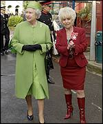 Barbara Windsor gave The Queen a tour
