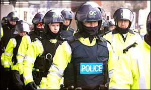 Police at the Labour Party conference this year