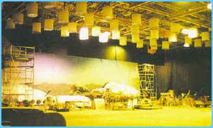 A sound stage at Leavesden studios