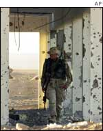 US Marine at base in southern Afghanistan