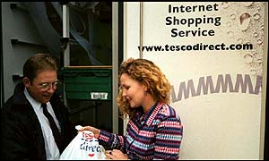 Tesco has an internet shopping service
