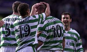 Hartson found the net twice for Celtic
