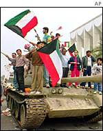 Kuwait celebrations at the end of the Gulf War