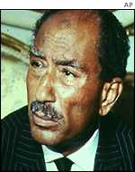 The late Egyptian President Anwar Sadat