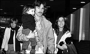 He had a son, Dhani, with second wife Olivia