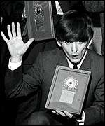 One of the Beatles' many silver discs in 1963