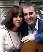 The singer, composer and film maker with his wife, Olivia