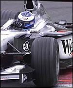 Mika Hakkinen in his McLaren-Mercedes