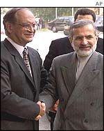 Pakistan and Iranian foreign ministers
