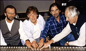 Ringo Starr, Sir Paul McCartney, George Harrison and Sir George Martin