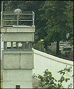 The Berlin Wall and watchtower