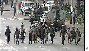 Zimbabwe riot police