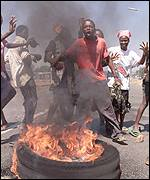 Harare riots in October 2000